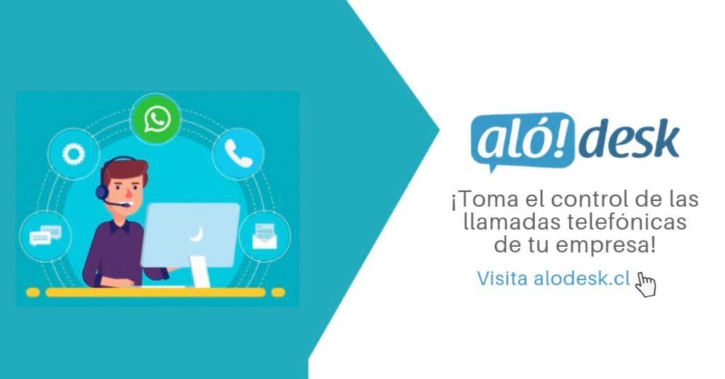 Alodesk es una plataforma chilena 100% cloud de atención a clientes por teléfono, WhatsApp y SMS